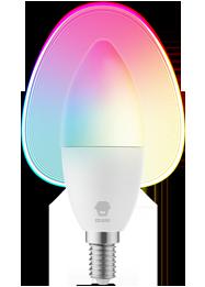 Decorative Candle Bulb White & Color